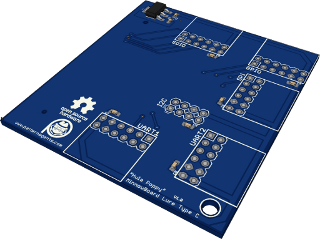 Hula_Poppy Board (isometric view - no connectors)